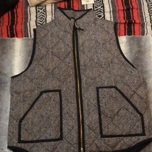 J. Crew Excursion Puffer Vest Herringbone size XXL